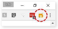 Check askOLI icon browser toolbar